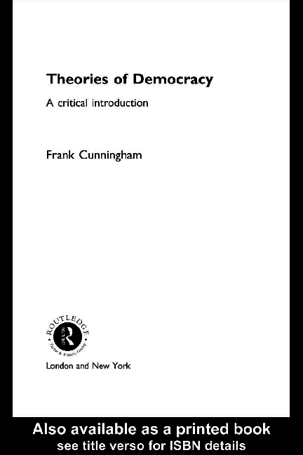 PDF) DEMOCRACY Theories of Democracy_ A Critical