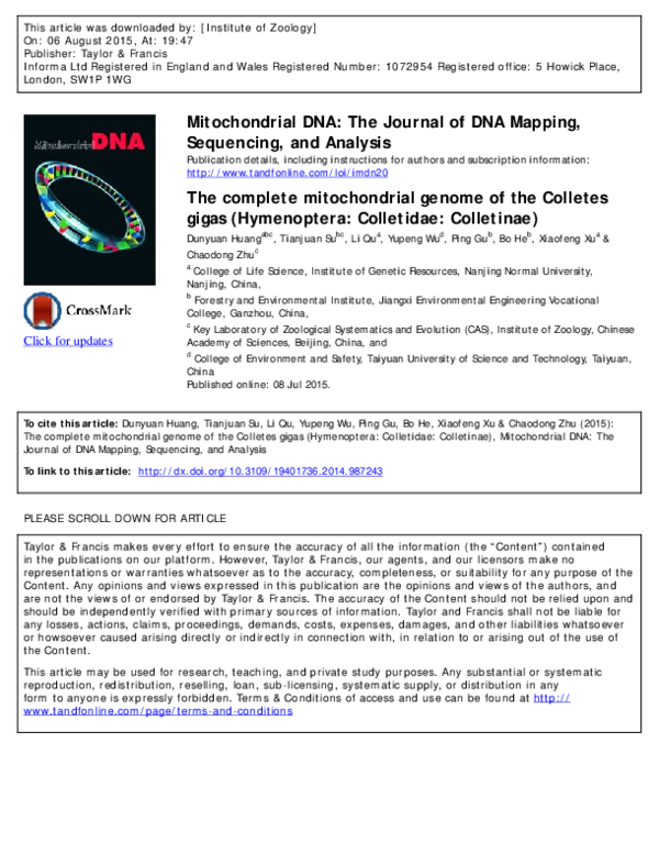 PDF) Click for updates Mitochondrial DNA: The Journal of DNA ... on dna code, dna gel electrophoresis, dna samples, dna testing, dna fingerprinting, dna comparison, dna extraction, dna fragmentation, dna replication, dna profiling, dna sequence chart, dna mapping, dna structure, dna nucleotide sequence, dna gene, dna double helix, dna background, dna amplification, dna molecule, dna chromatogram,
