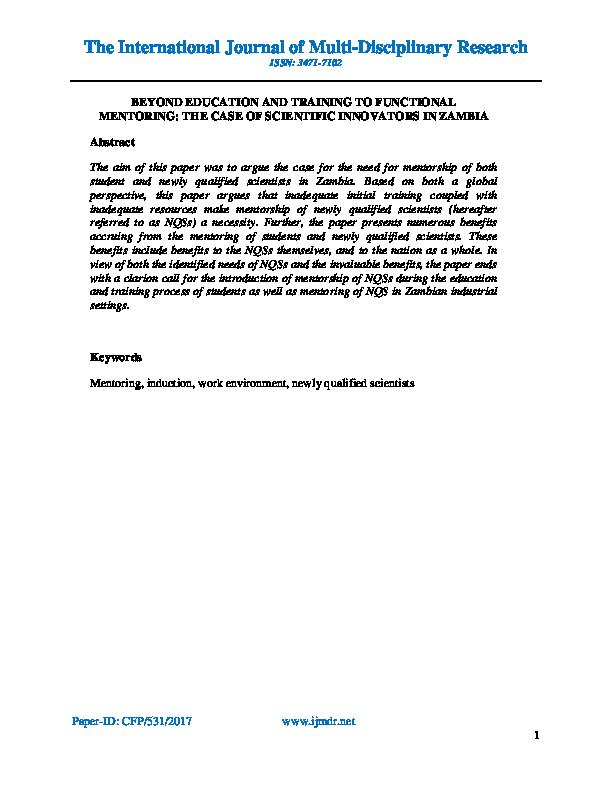 PDF) The International Journal of Multi-Disciplinary