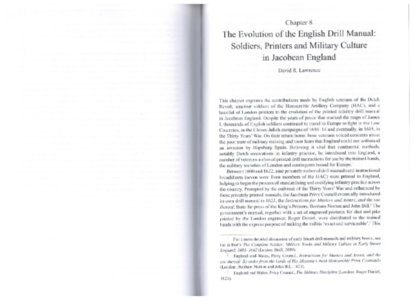 "PDF) ""The Evolution of the English Drill Manual: Soldiers"