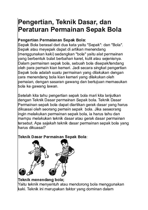 Pengertian Dan Sejarah Permainan Sepak Bola Seputar Sejarah