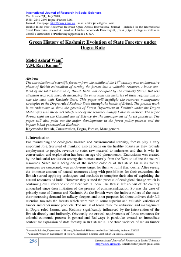 Kashmir history pdf of