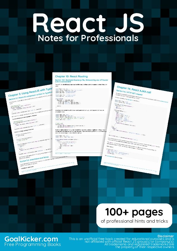 PDF) React JS Notes for Professionals   Ali Murtadho