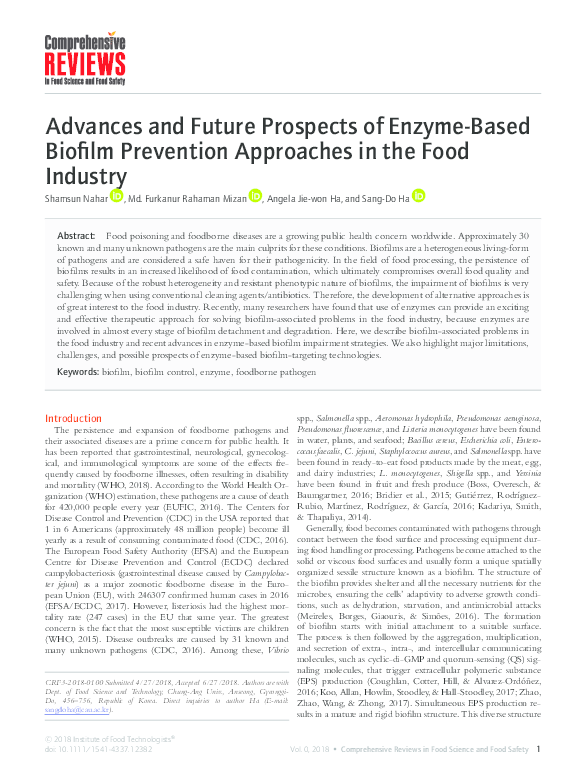 PDF) Advances and Future Prospects of Enzyme-Based Biofilm