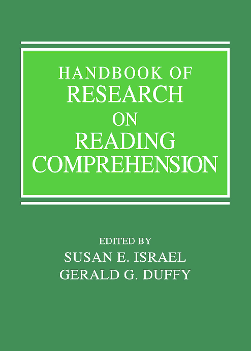PDF) Handbook of Research on Reading Comprehension. Duffy & Israel ...