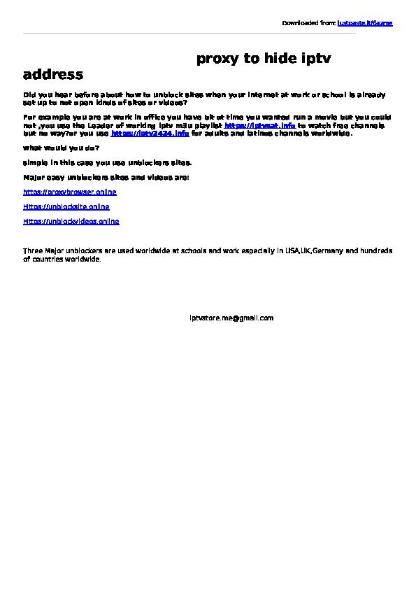 PDF) iptv m3u and sites unblockers | Best IPTV - Academia edu