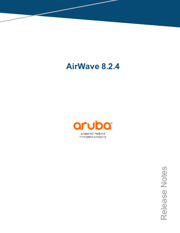 PDF) AirWave 8 2 4 Release Notes | ifan ns - Academia edu