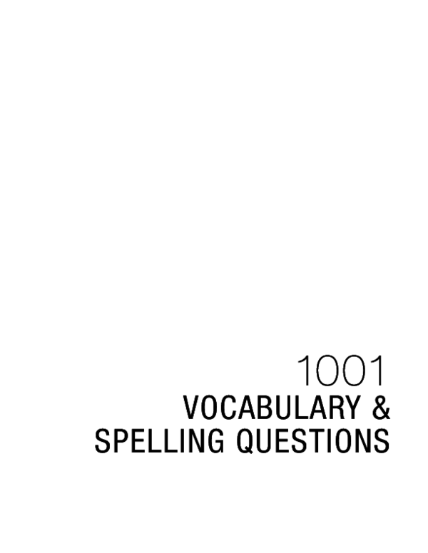 Pdf Vocabulary Spelling Questions Ielts House Renuka
