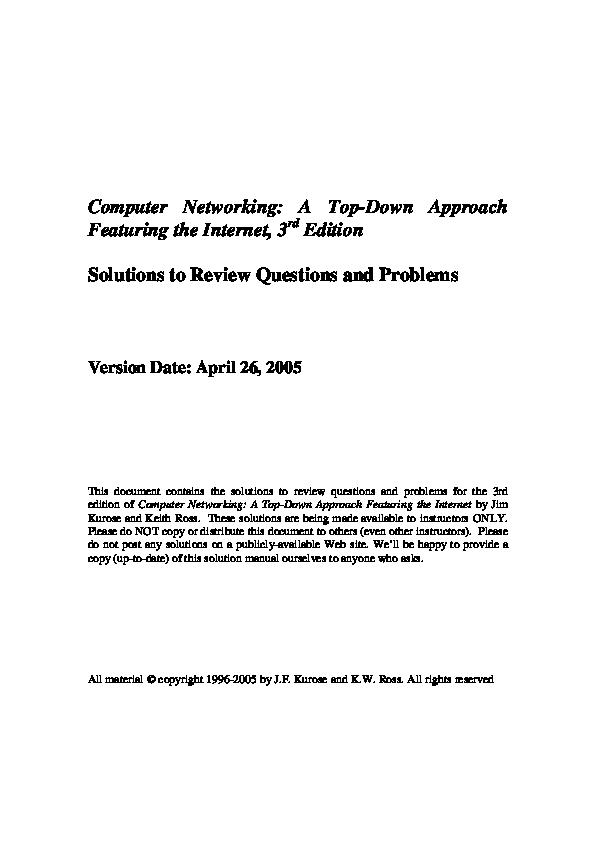 Kurose by pdf networks computer