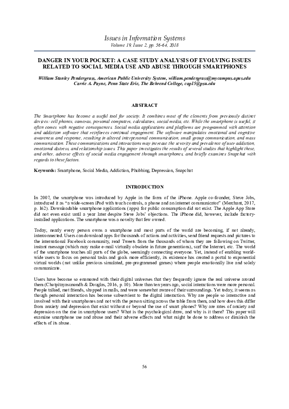 PDF) DANGER IN YOUR POCKET: A CASE STUDY ANALYSIS OF