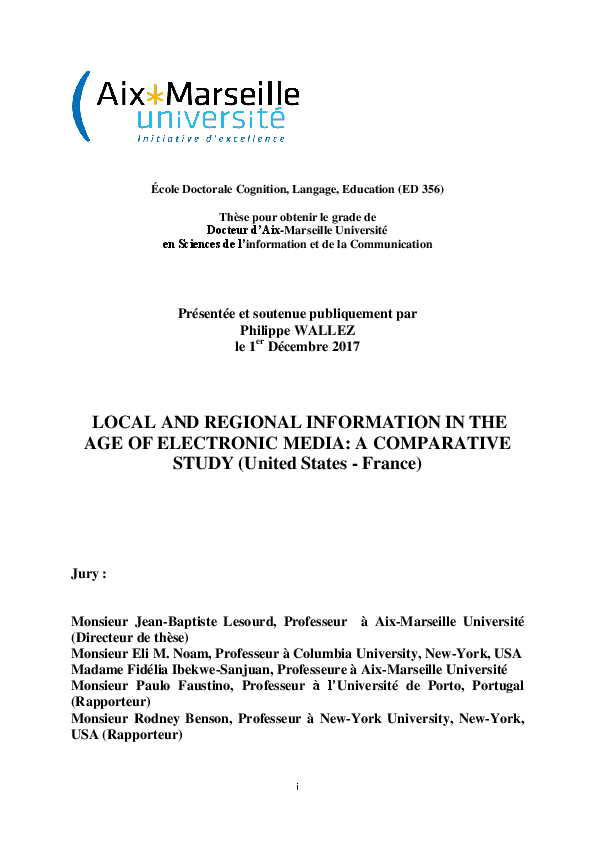 PDF) LOCAL AND REGIONAL INFORMATION IN THE AGE OF ELECTRONIC