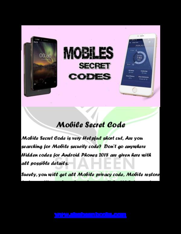 PDF) All Mobile Secret Code   shaheen B O O K S (Aqsa Shaheen