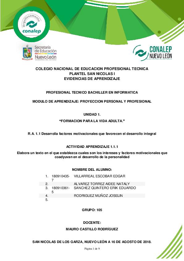 Doc Colegio Nacional De Educacion Profesional Tecnica