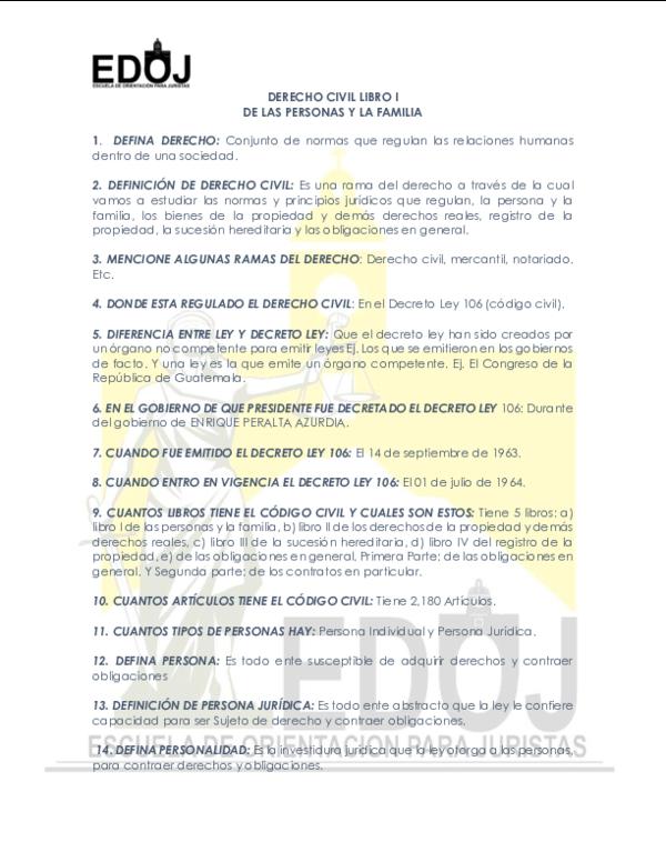 DOC) DERECHO CIVIL LIBRO I DE LAS PERSONAS Y LA FAMILIA ...