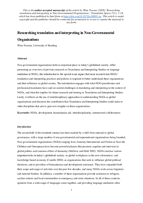 ngo management the earthscan companion