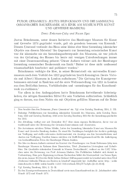 Pdf Furor Ceramicus Justus Brinckmann Und Die Sammlung