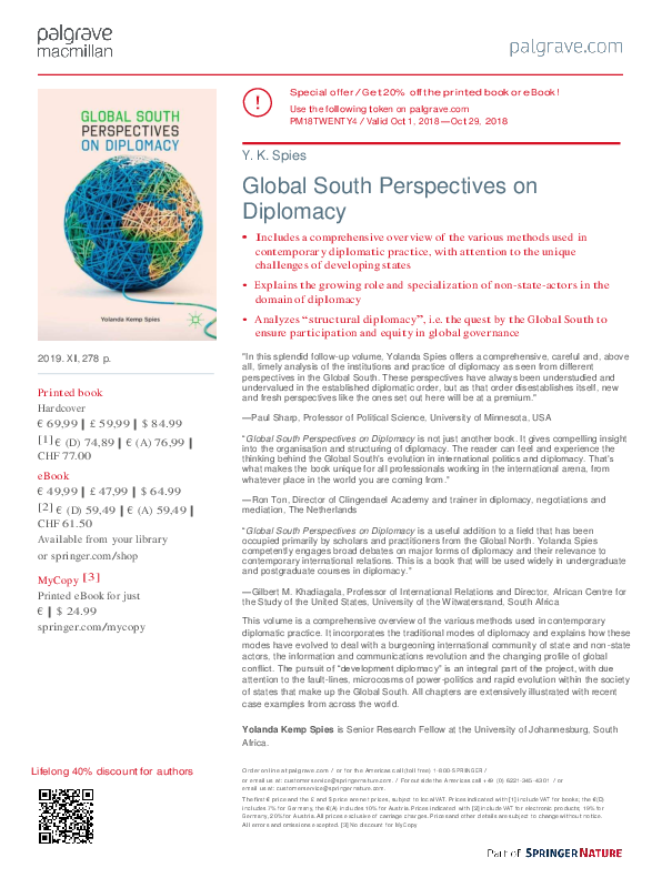 PDF) Spies YK 2018 Global South Perspectives on Diplomacy