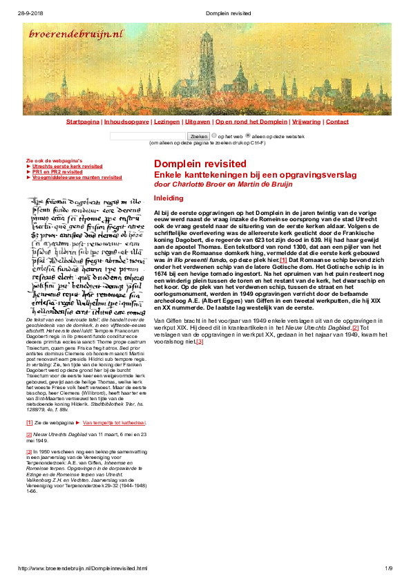 PDF) Domplein revisited | Charlotte J C  Broer and Martin