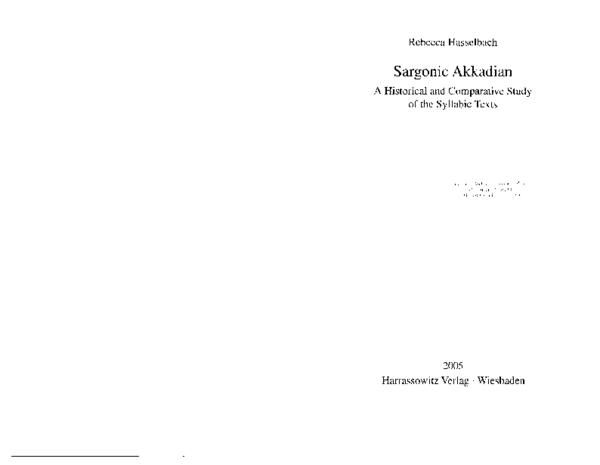 PDF) Sargonic Akkadian: A Historical and Comparative Study