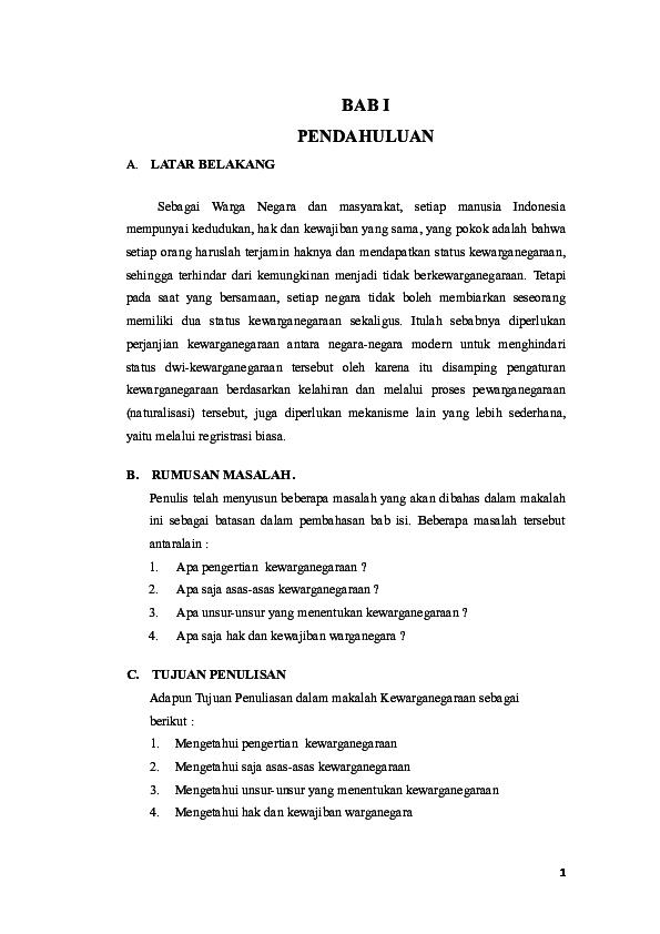 Doc Makalah Kewarganegaraan Docx Aidil Harahap Academia Edu