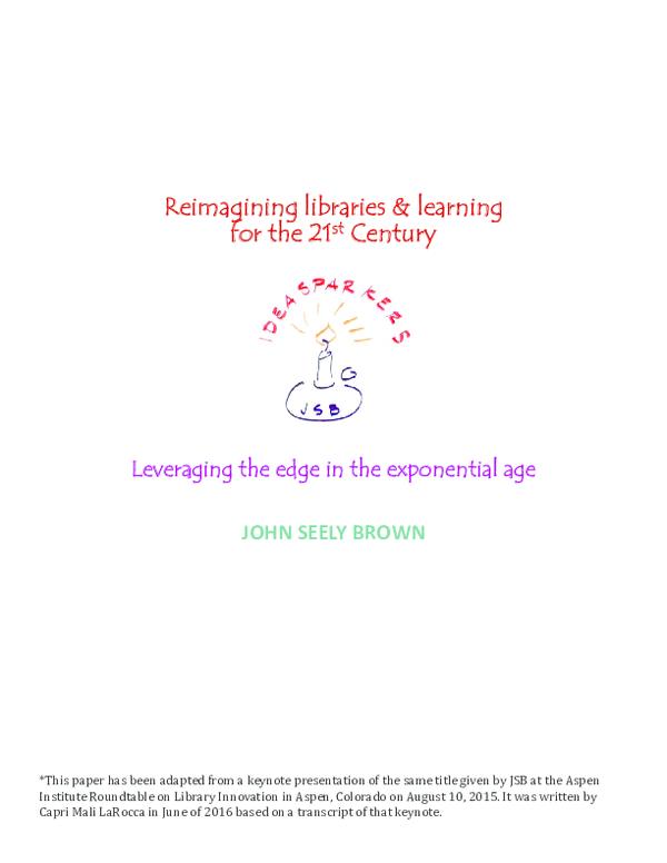 PDF) JOHN SEELY BROWN   John Seely Brown - Academia edu