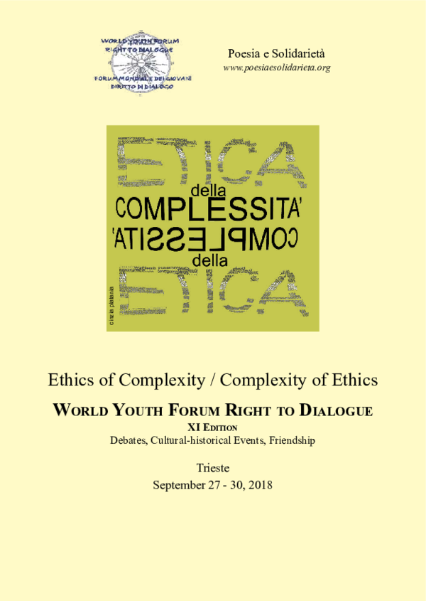 Pdf Poesia E Solidarieta Ethics Of Complexity Complexity Of