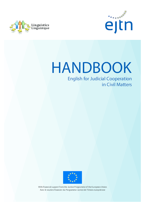 Pdf English For Judicial Cooperation In Civil Matters