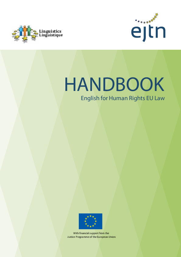 PDF) English for Human Rights EU Law (Handbook) | Miguel Angel