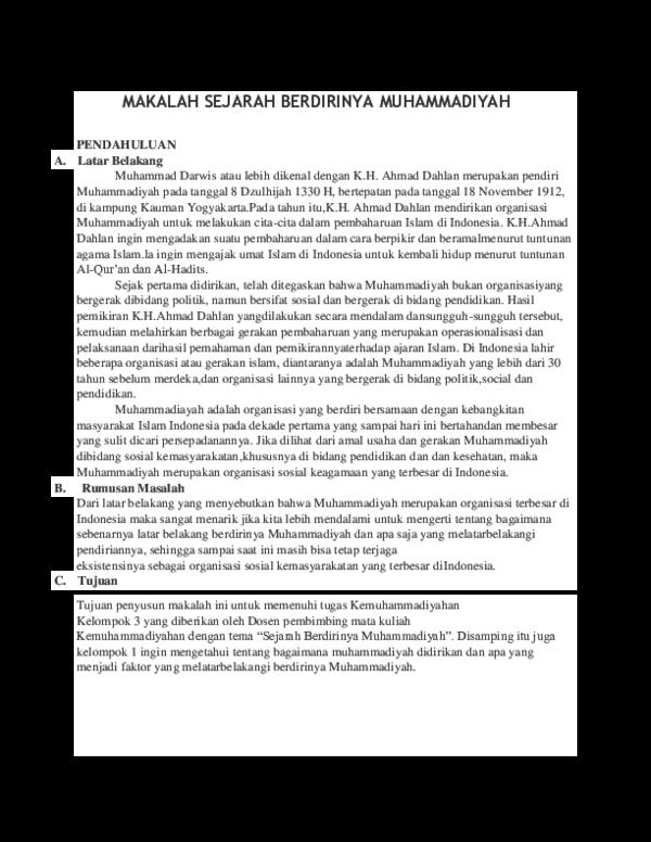 Kesimpulan Organisasi Muhammadiyah