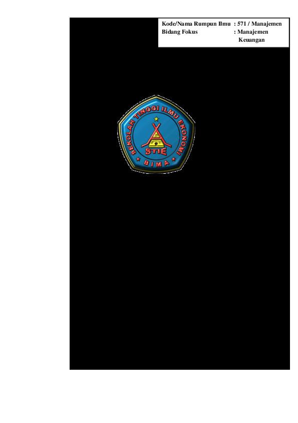 Doc Analisis Kinerja Keuangan Dengan Menggunakan Metode Economic Value Added Eva Pada Pt Bank Pembangunan Daerah Ntb Aris Munandar Academia Edu