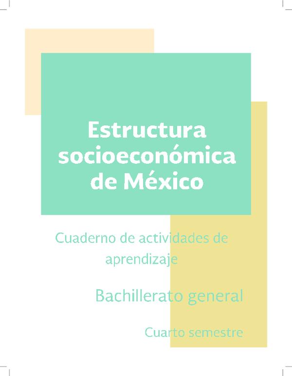 Pdf Estructura Socioeconomica De Mexico Gabriela Rios