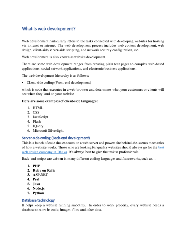 DOC) What is web development | Pixel DTS - Academia edu