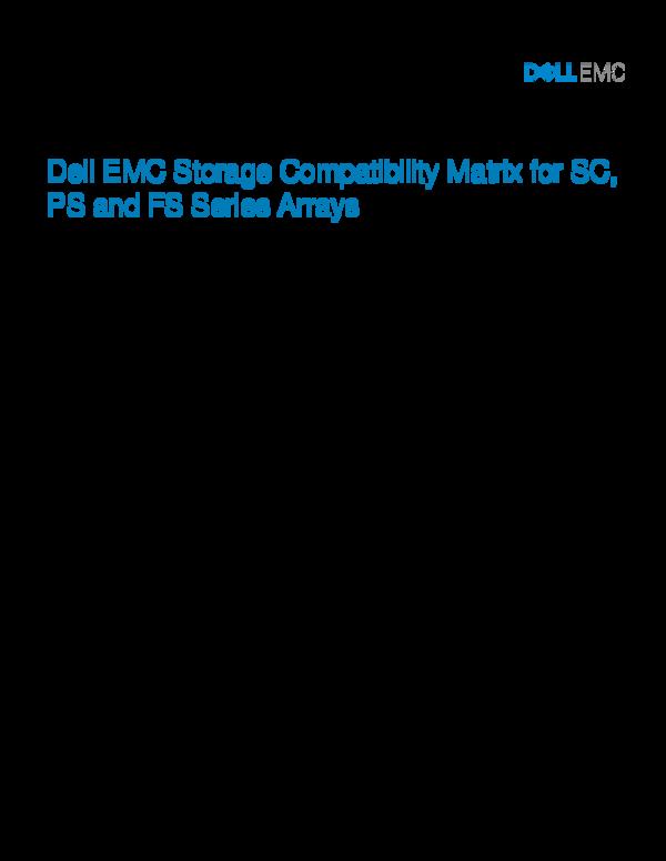 PDF) A Dell EMC Deployment and Configuration Guide Dell EMC