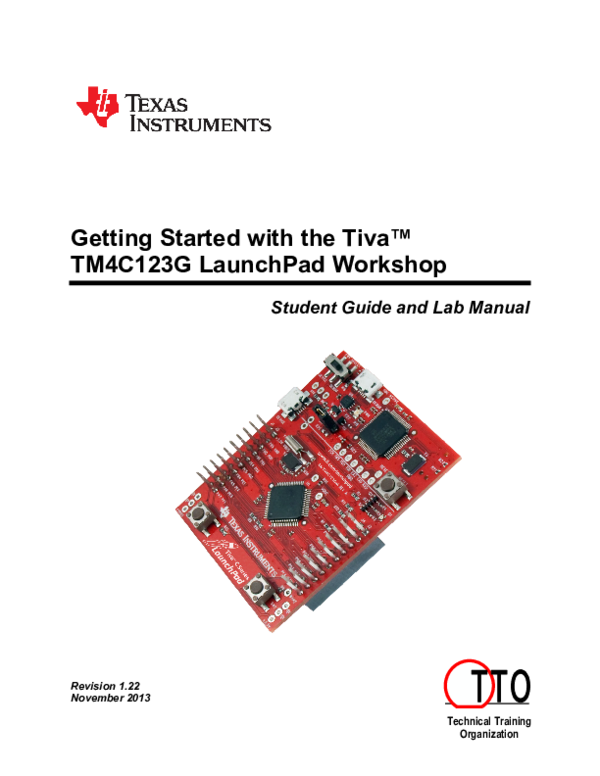 PDF) Getting Started with the Tiva™ TM4C123G LaunchPad Workshop