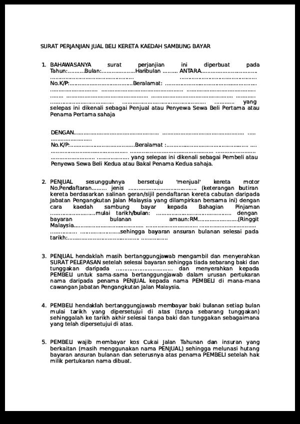 Pdf Kupdf Net Surat Perjanjian Jual Beli Kereta Kaedah Sambung Bayar Pdf Shaharin Shahar Academia Edu