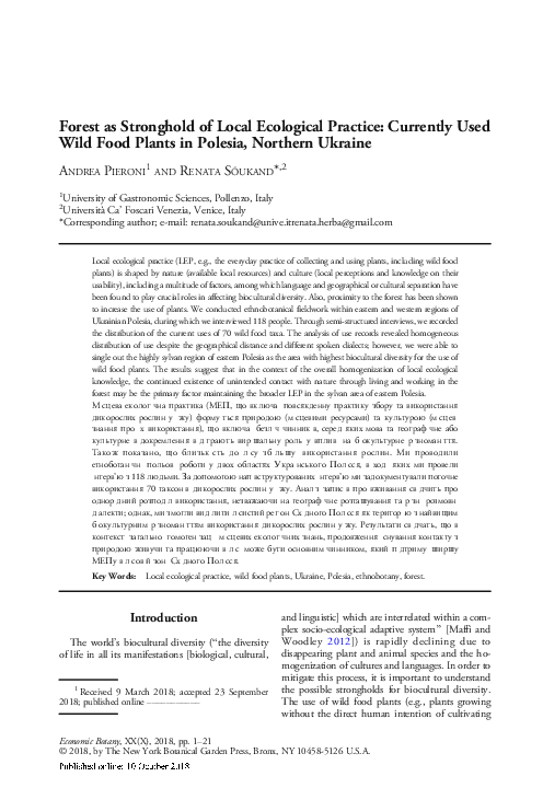 c6603fb66 PDF) Forest as Stronghold of Local Ecological Practice: Currently ...