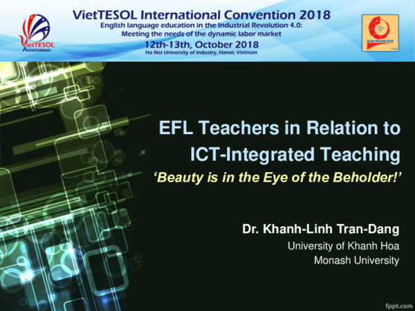 PPT) EFL Teachers in Relation to ICT-Integrated Teaching: 'Beauty is