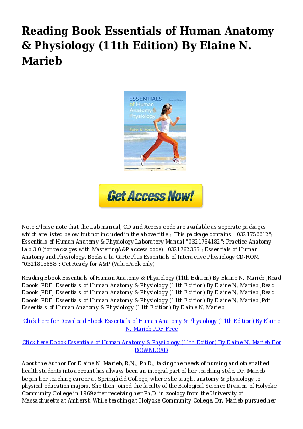 PDF) #PDFnyl-PDF-Essentials-of-Human-Anatomy-Physiology-11th