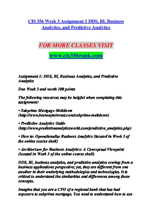 PDF) CIS 356 RANK Education for Service--cis356rank com