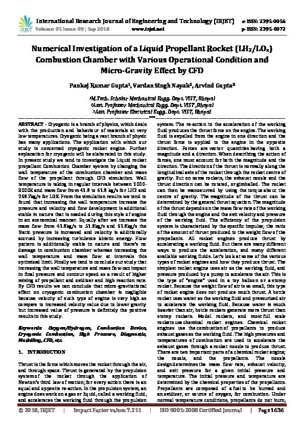 PDF) IRJET- Numerical Investigation of a Liquid Propellant