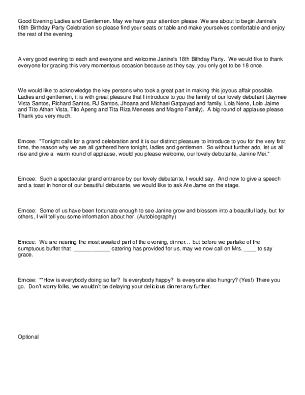 Doc Script For Debut Jeziel Gener Academia Edu