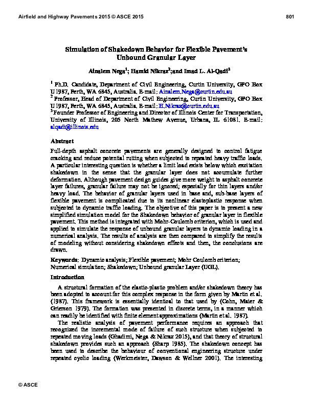 PDF) Simulation of Shakedown Behavior for Flexible