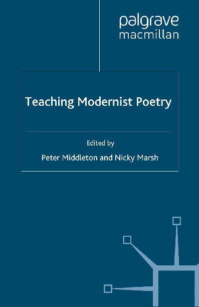 PDF) Teaching-Modernist-Poetry.pdf | Win Lwin - Academia.edu