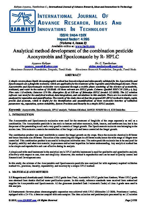 PDF) Analytical method development of the combination