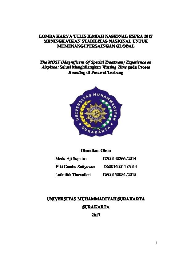 Pdf Contoh Proposal Lomba Karya Tulis Ilmiah Nasional Lolos Di Unissula 2017 Meda Aji Saputro Academia Edu