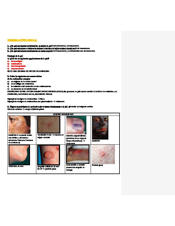 PDF) Resumen ENARM Dermatología | Corina Ortega - Academia edu
