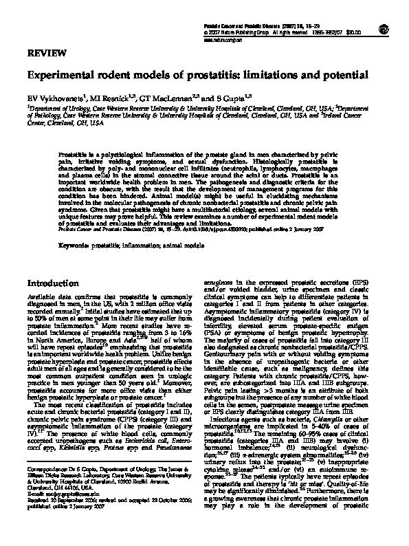 Prosztatagyulladás – Wikipédia