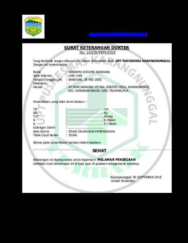 Doc Pemerintah Kabupaten Tasikmalaya Dinas Kesehatan Upt