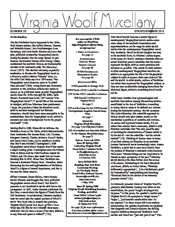 Pdf Feminist Digital Pedagogy Virginia Woolf Miscellany 93 Spring Summer 2018 42 43 Part Of Segment On Jane Marcus Feminist University Conference Cuny Graduate Center Amanda Golden Academia Edu