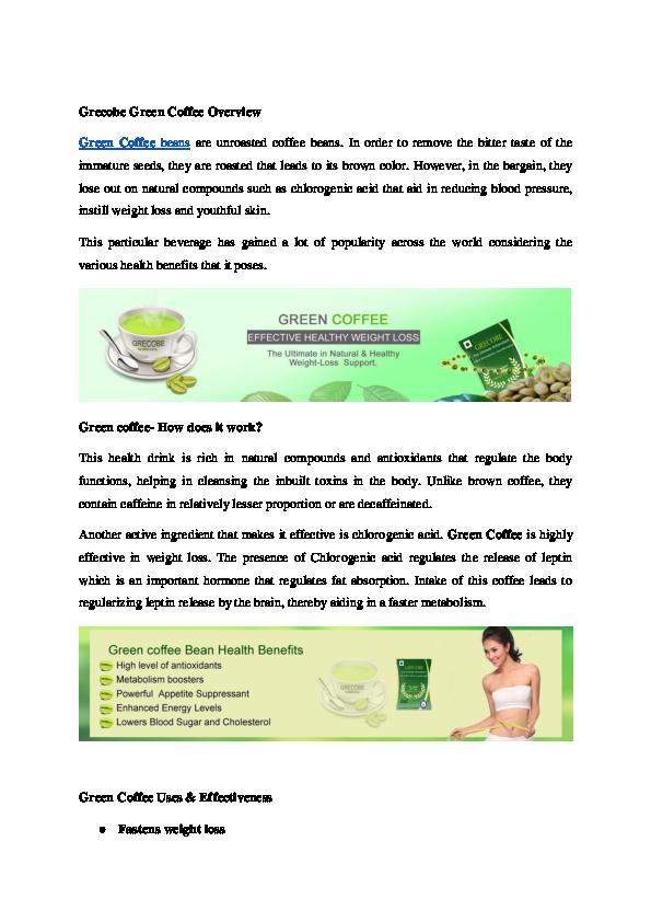 Doc Grecobe Green Coffee Overview The Grecobe Academia Edu